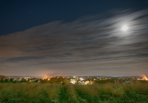 Full moon over Bidford