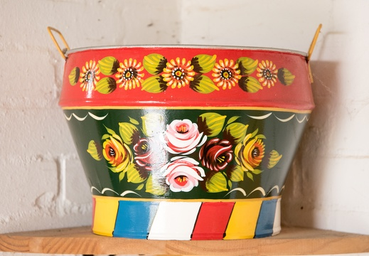 Painted Pot on Shelf